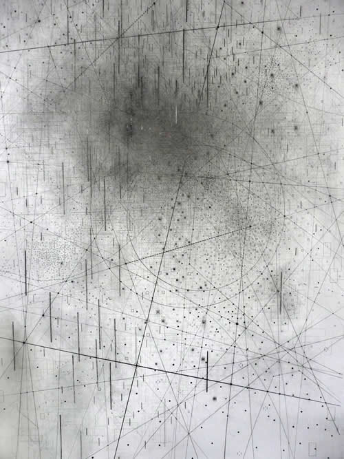 Line drawing by Emma McNally - graphite on paper