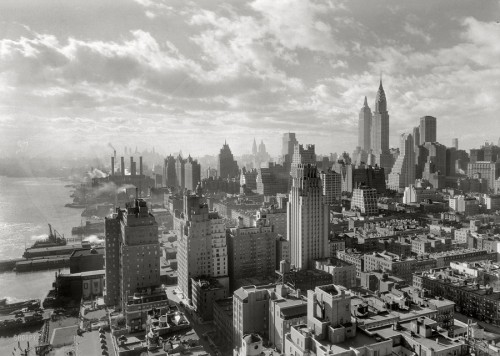 A view of Manhattan from the 27th floor of the River House on December 15th, 1931. Photograph by Samuel Gottscho.