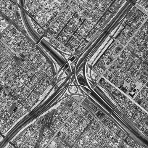 David Maisel black & white photography - Los Angeles hinting to an atomic blast
