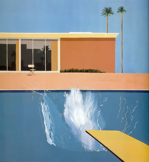 A Bigger Splash, 1967. Acrylic on canvas by David Hockney