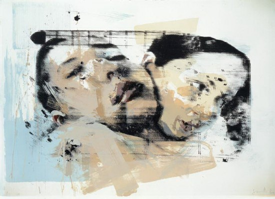 Ten color lithograph by Jenny Saville