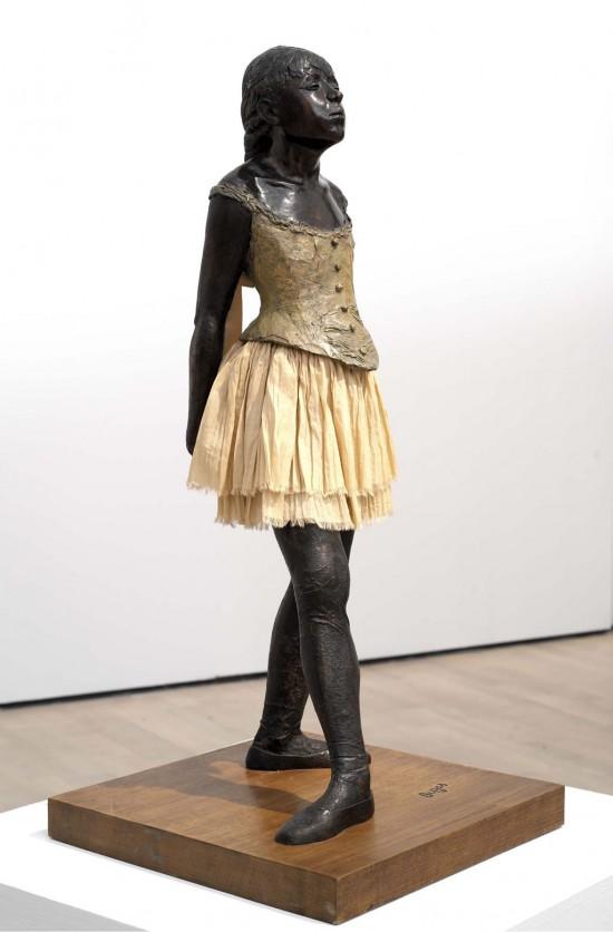 """Sculpture by Edgar Degas titled """"Little Dancer of Fourteen Years"""" (La Petite Danseuse de Quatorze Ans), 1881"""