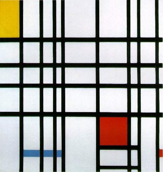 Composition with Yellow, Blue, and Red - Piet Mondrian