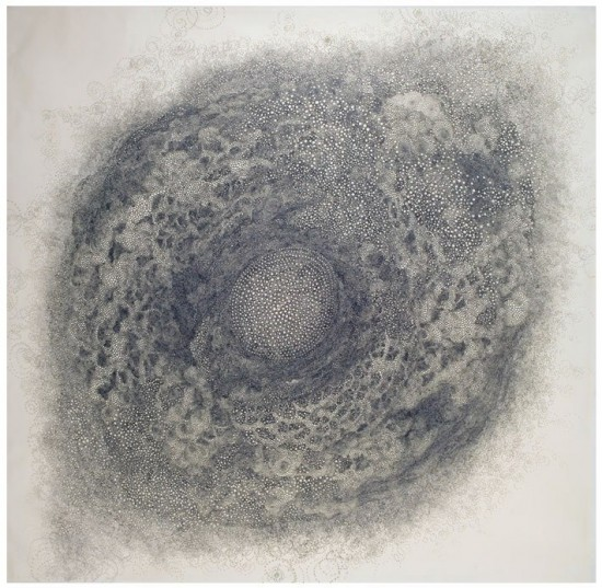 Hiroyuki Doi, Soul III(HD 2610), 2006 ink on washi, 38x37inches