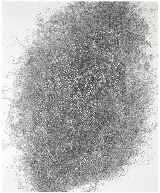 Hiroyuki Doi, Untitled (HD 2310), 2010 ink on paper, 18x15inches