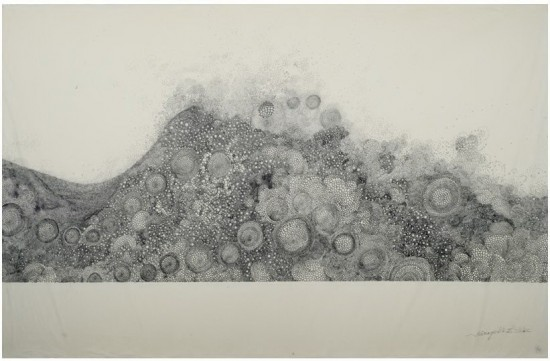 Hiroyuki Doi, Untitled (HD 49Z06), ink on washi, 25x39inches