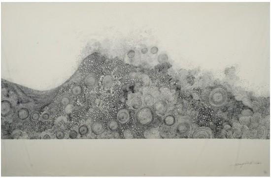Hiroyuki Doi, Untitled (HD 49Z06), ink on washi, 25x39inches